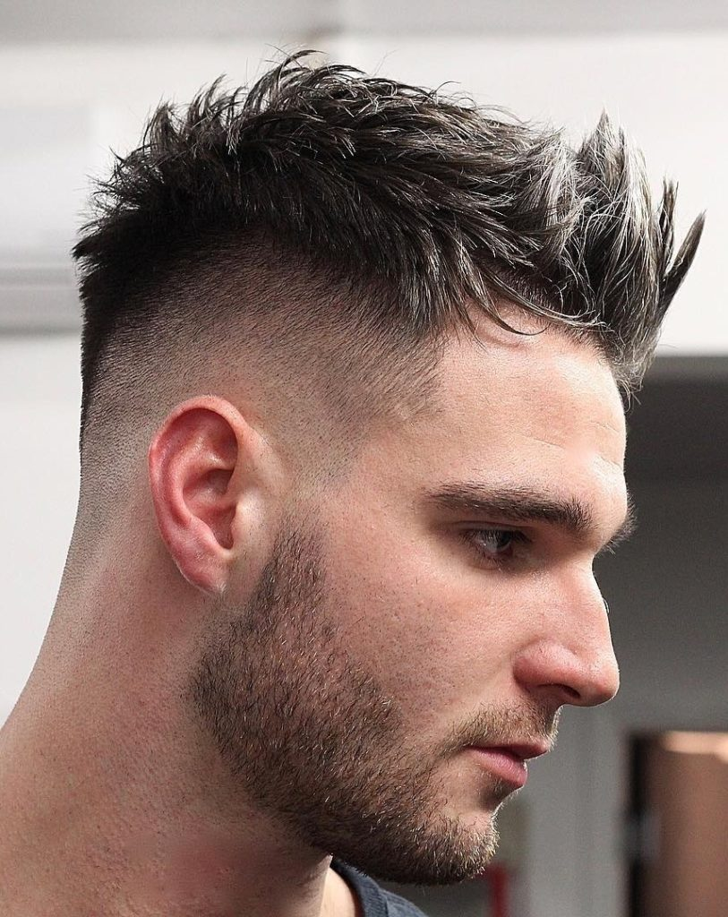 Skin Fade Messy Hairstyle
