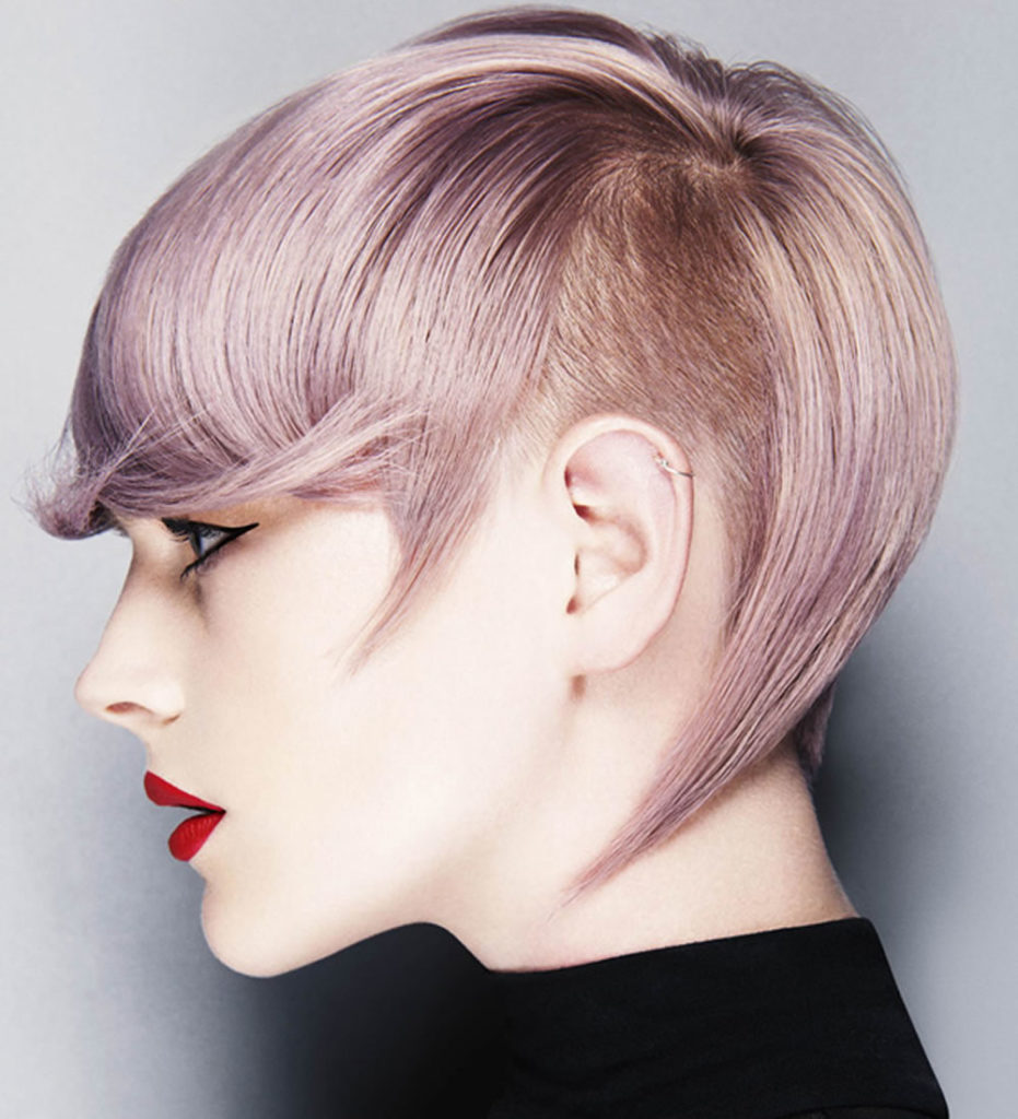Undercut Short Inverted Bob Hairstyle