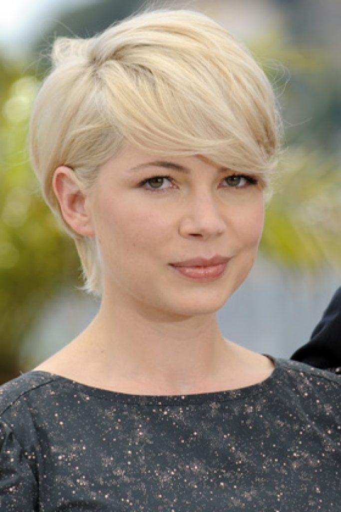 Blonde Pixie Cut with Bang