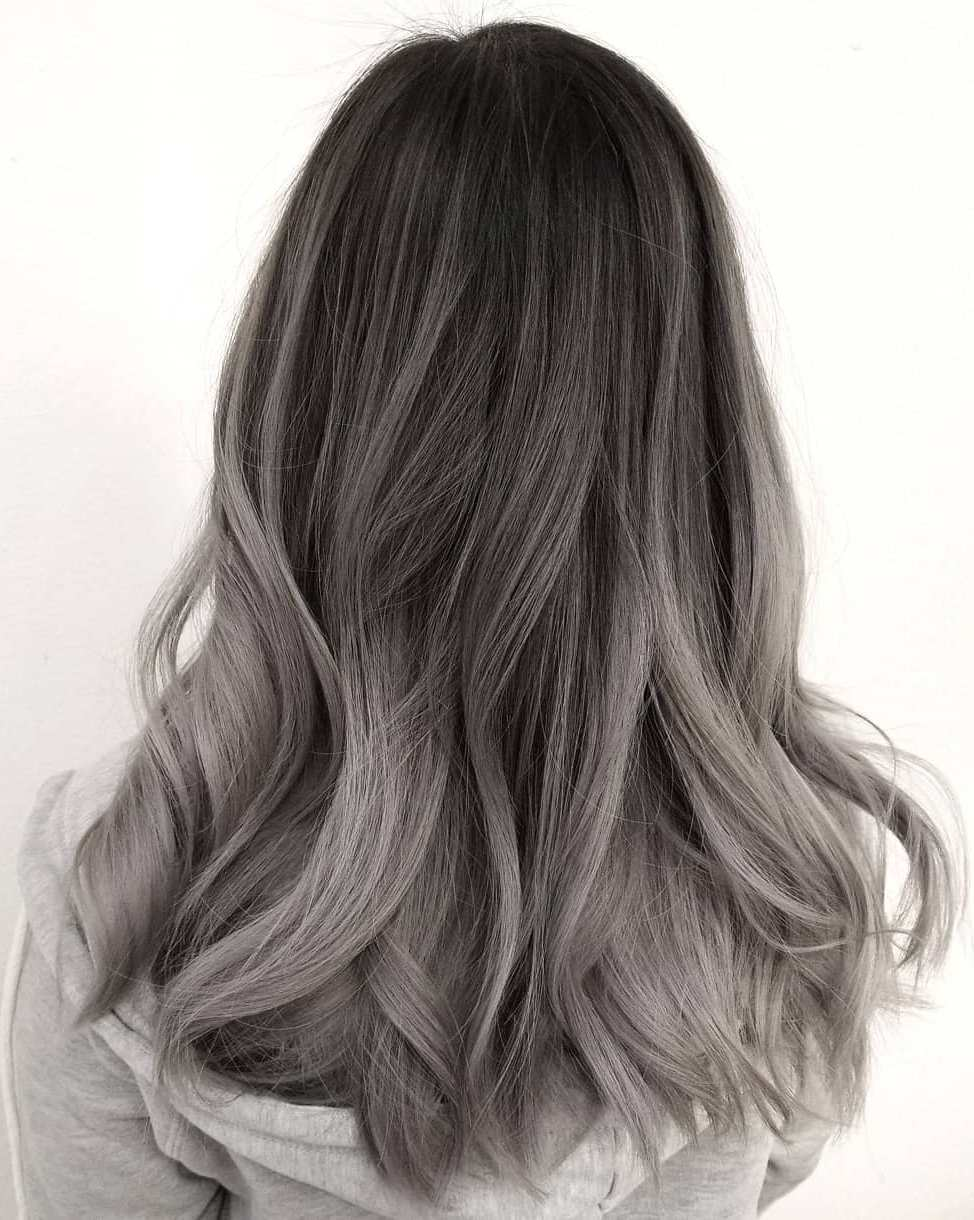 Silver Grey Hair - Hair Colors For Spring