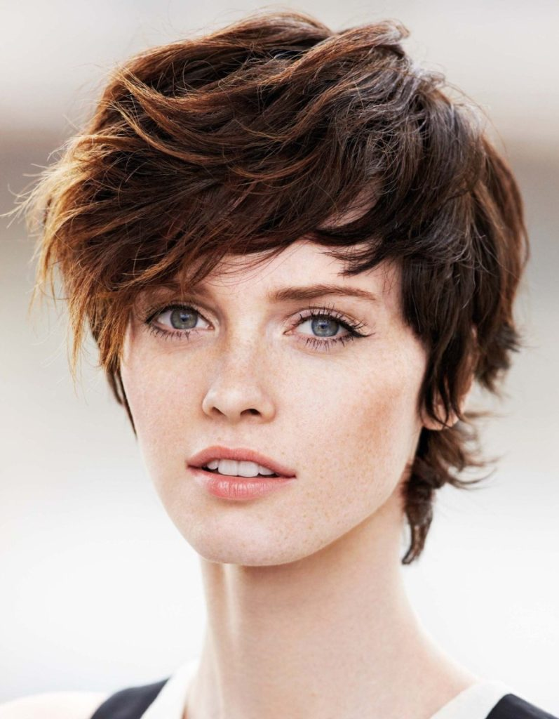 Brown Shaggy Short Hairstyle