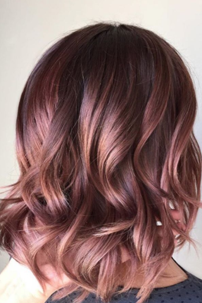 Chocolate Mauve - Hair Colors For Spring