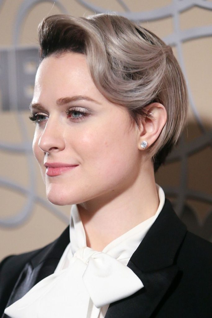Side Swoop Short Hairstyle
