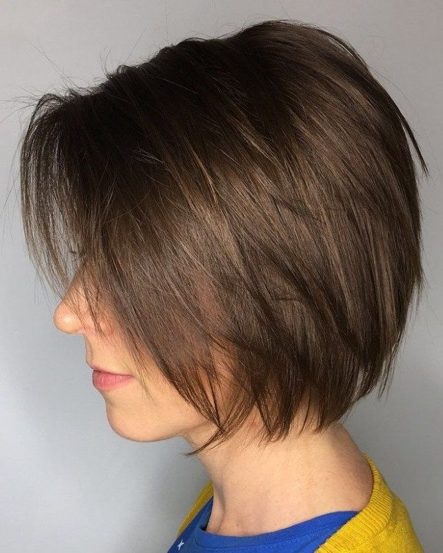 Layered Brown Bob Hairstyle