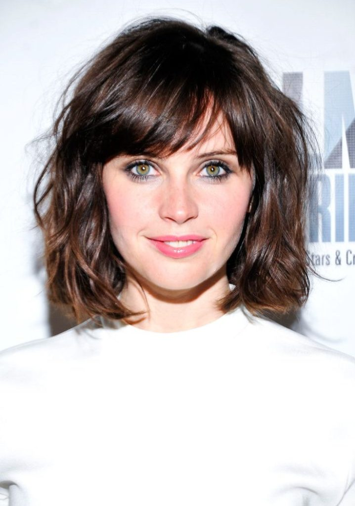 Long Wavy Bob with Bangs