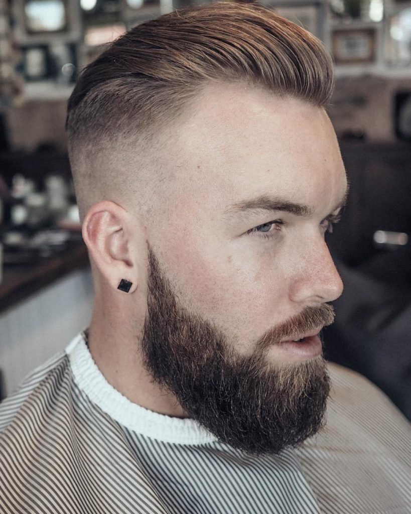Skin Faded Slicked Back Hairstyle