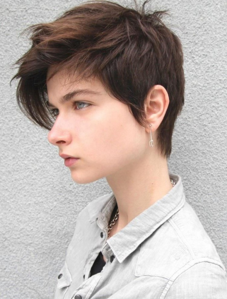 Tomboy Messy Hairstyle