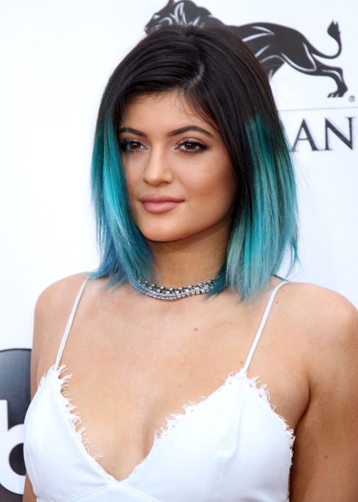 Bright Blue Ombre Hair
