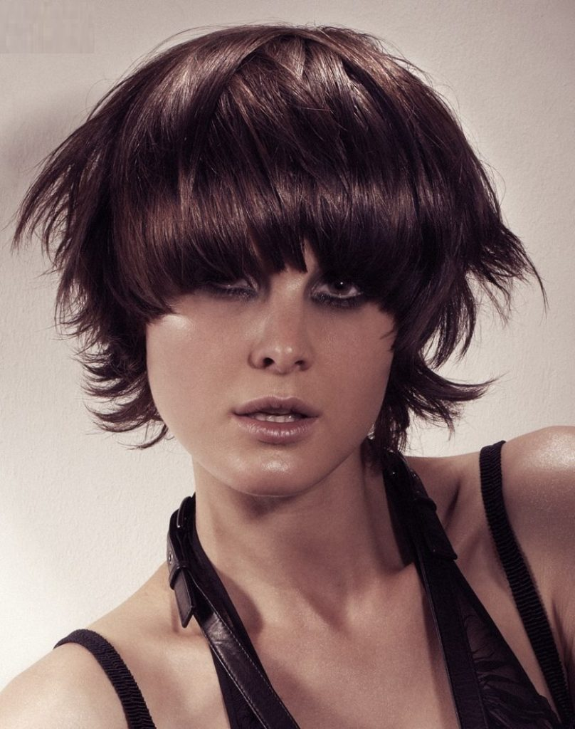 Feathered Haircut with Curved Fringe