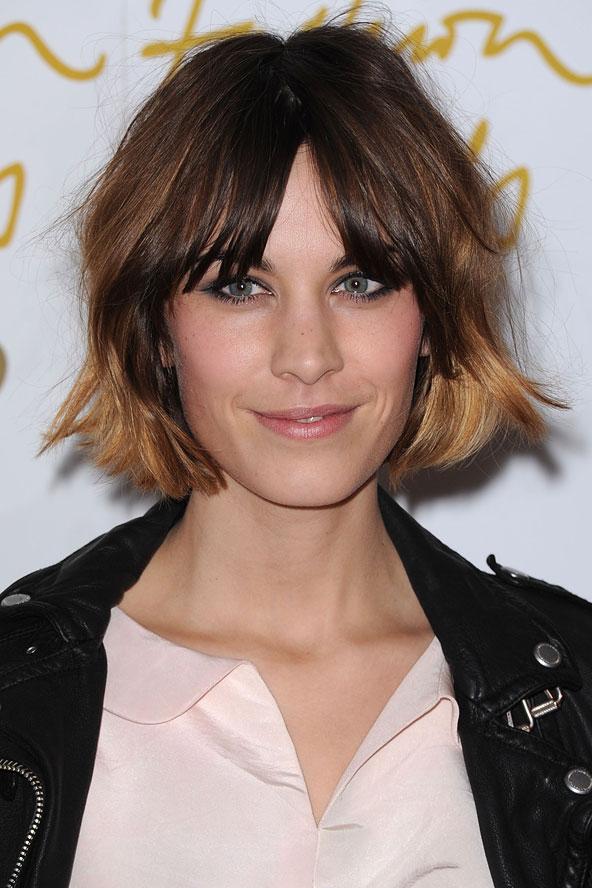 Textured Fringe Short Hairstyle