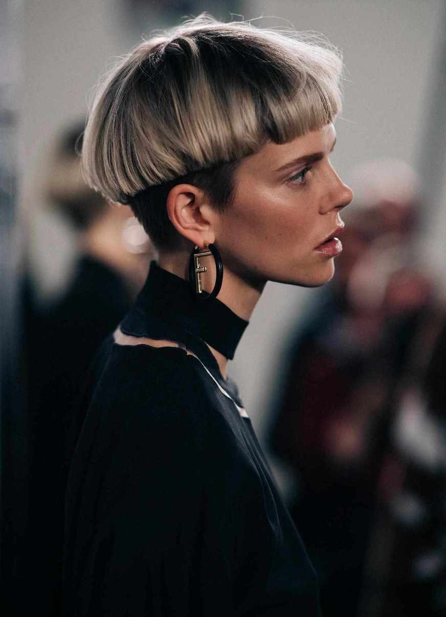 Tomboy Bowl Cut Hairstyle