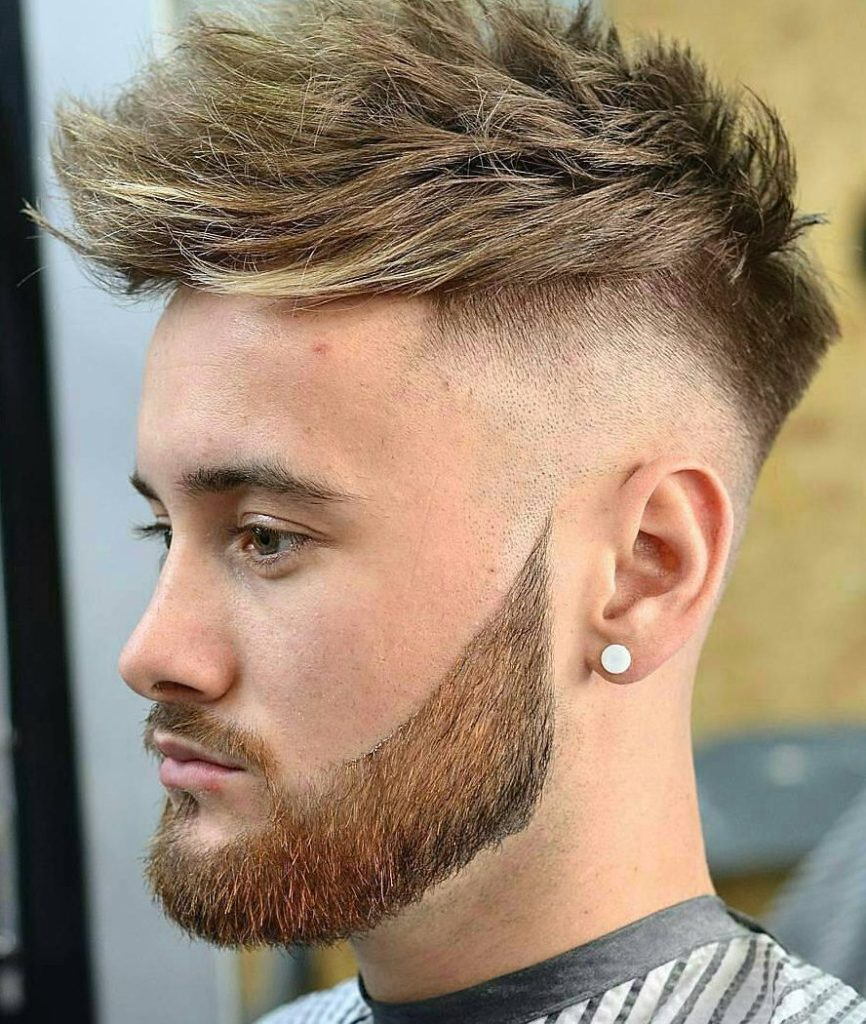 Spiky Messy Faded Hairstyle