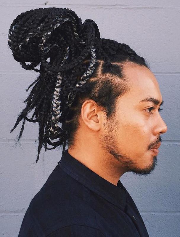 Box Braids Bun Hairstyle