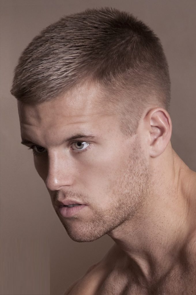 Side Part Crew Cut Hairstyle