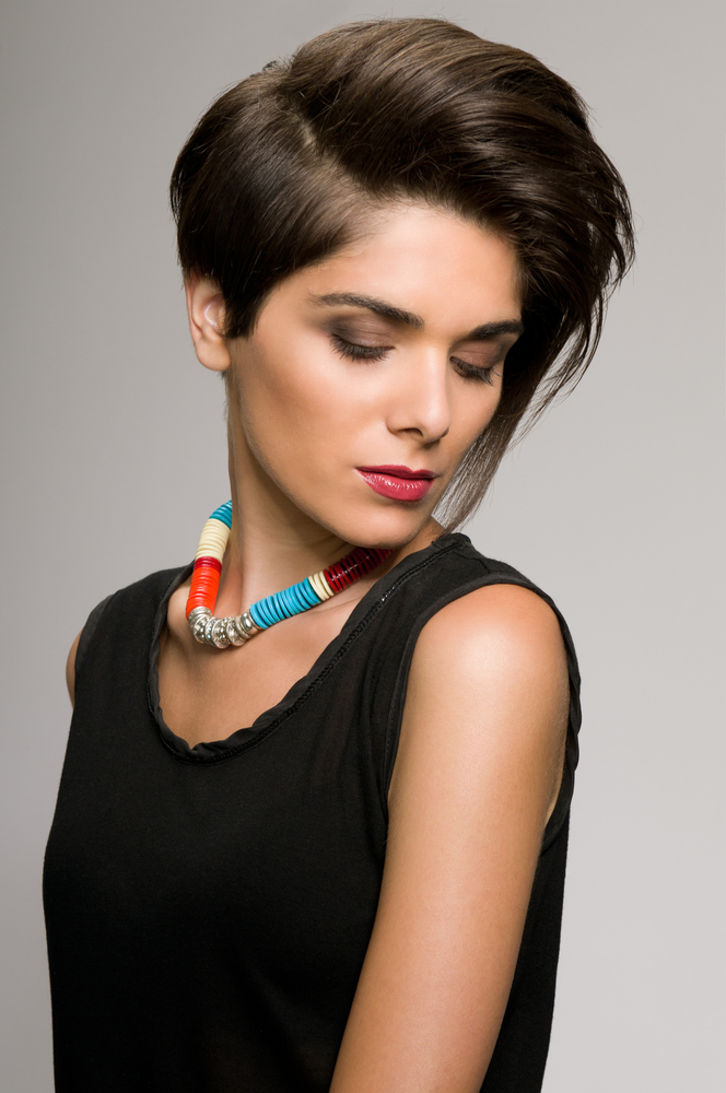 Side Part Short Hairstyle with Thick Hair