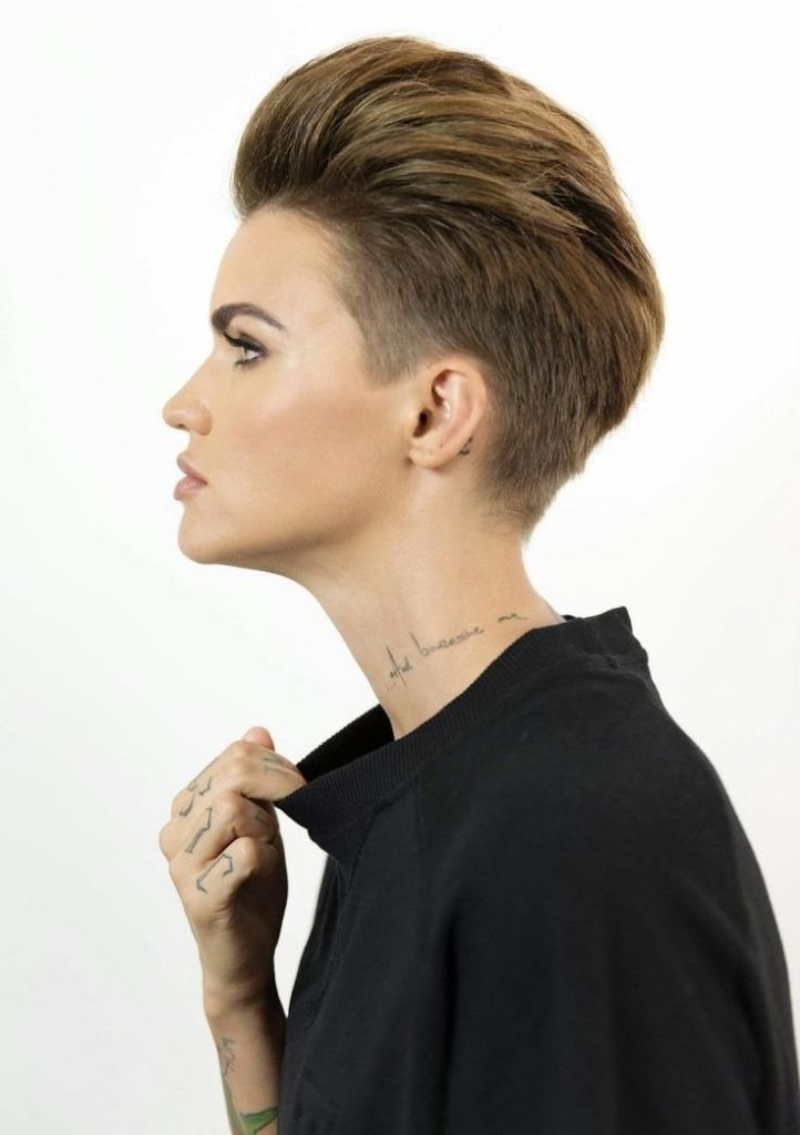 Slick Back Tomboy Hairstyle