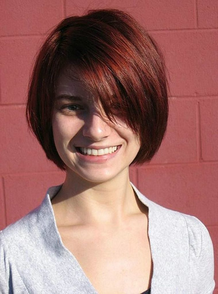 Angled Layered Bob Hairstyle
