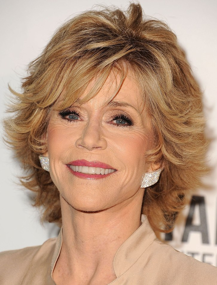 Layered Short Hairstyle for Older Women