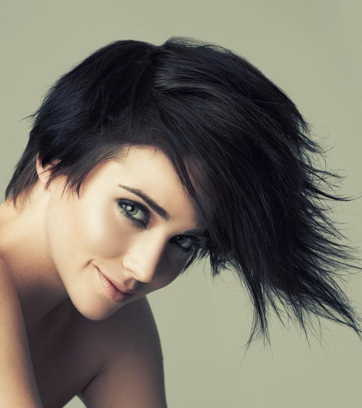 Razor Cut Hairstyle with Fringe