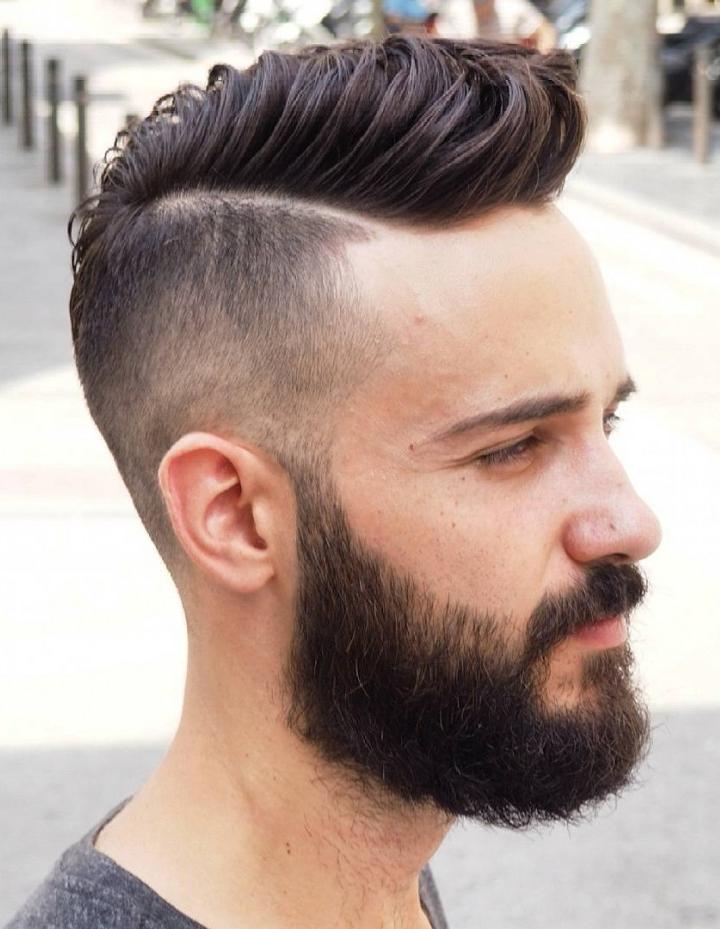 Side Part Skin Fade Haircut