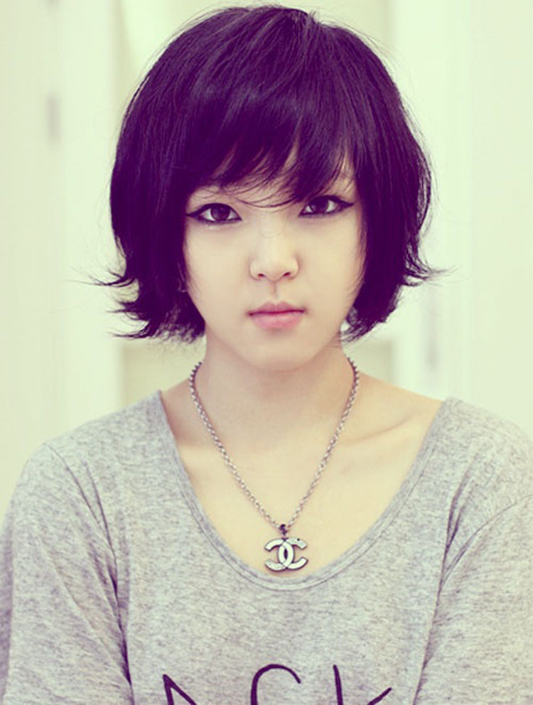 Asian Short Hairstyle with Bangs
