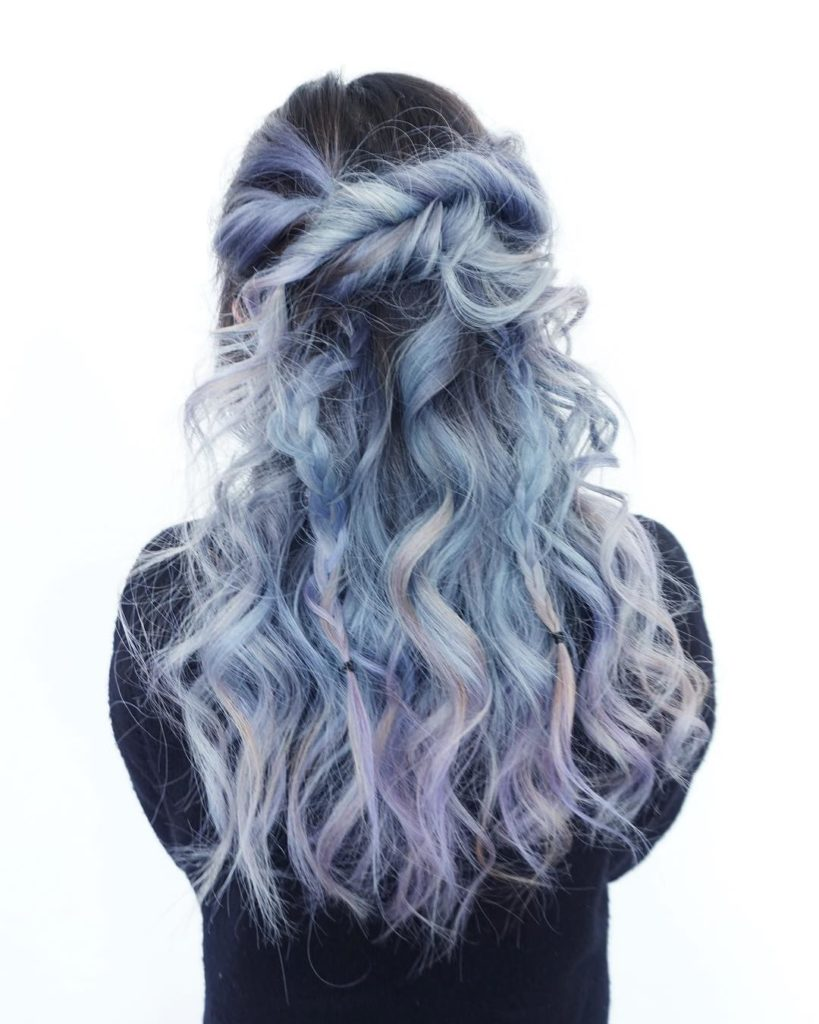 Pastel Blue Blonde - Hair Colors For Spring