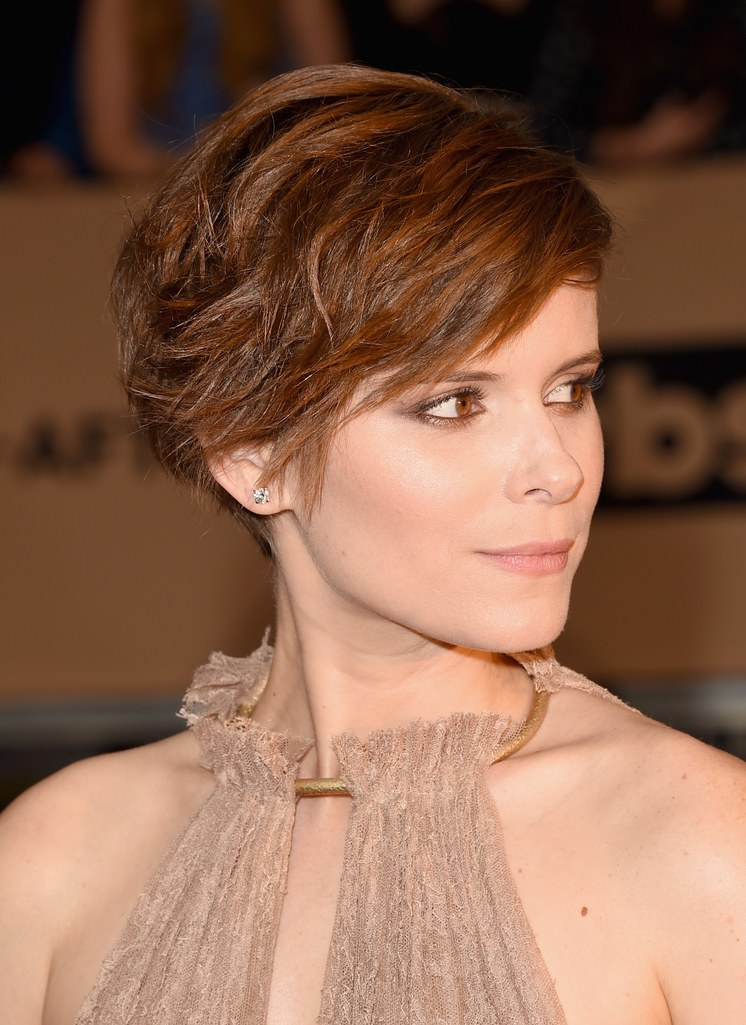 Side Swept Brunette Hairstyle