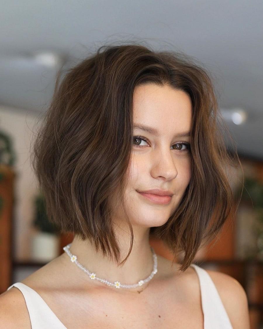 short choppy bob haircut for women