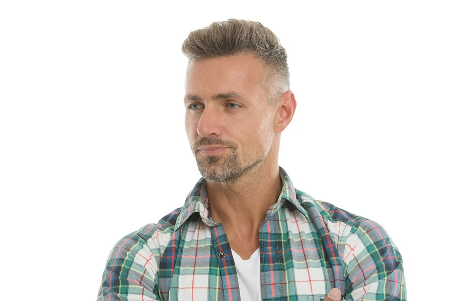 short hair with undercut for man over 40
