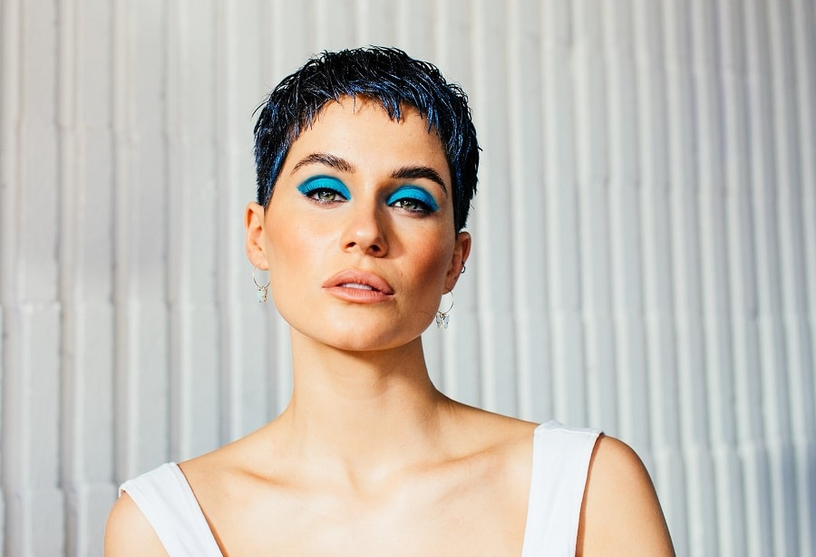 short pixie for thick hair