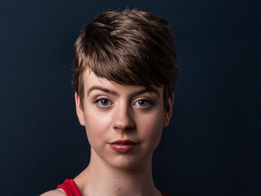 short and thick pixie cut