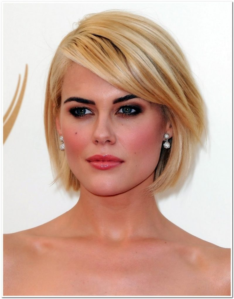 Inverted Bob Short Hairstyle with Fringe