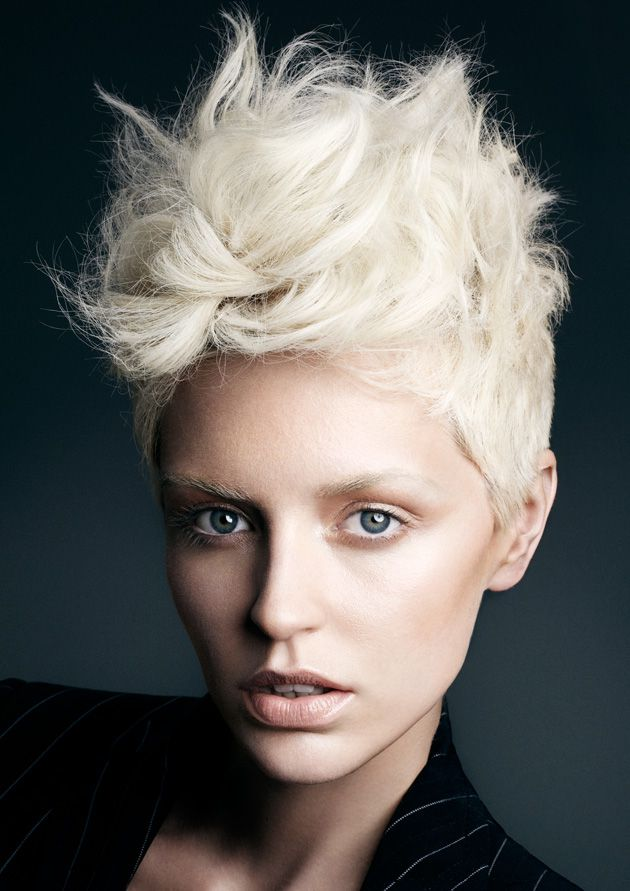 Messy Mohawk Short Hairstyle