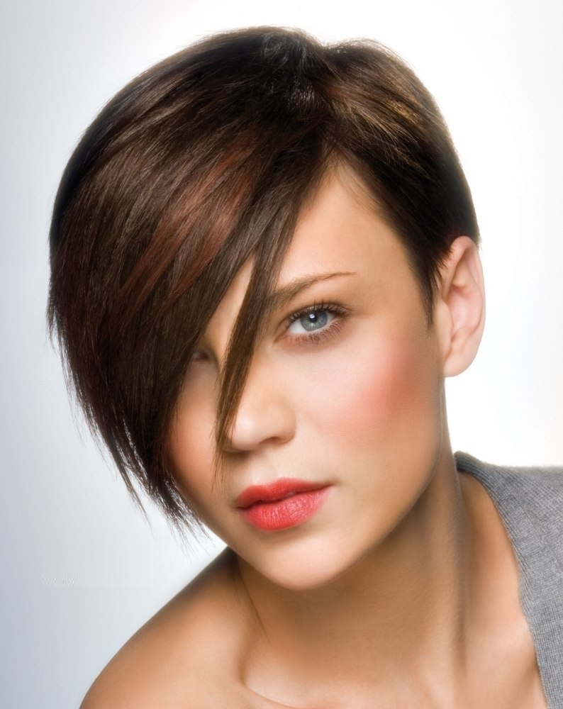 Asymmetrical Short Hairstyle With Fringe