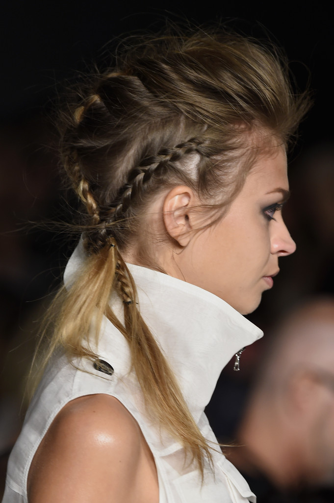Mohawk Short Hairstyle with Braid