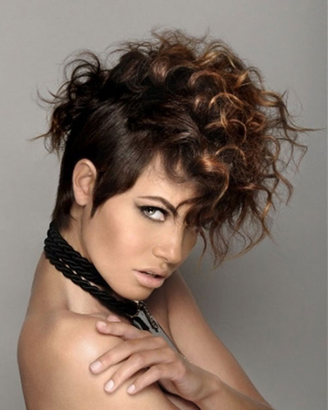 Curly Mohawk Hairstyle