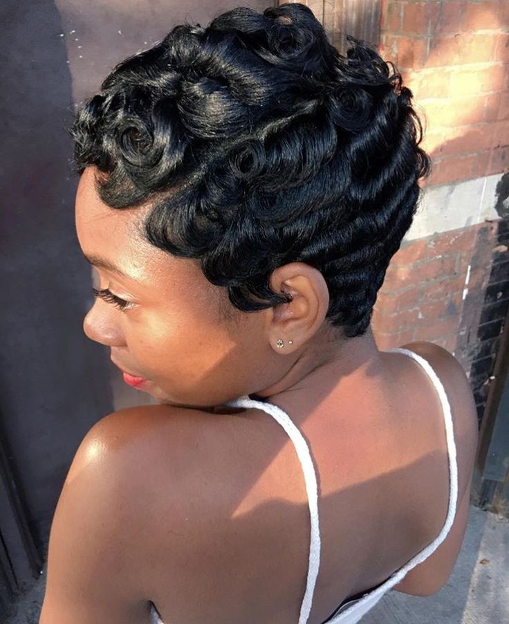 Natural Finger Wave Short Hairstyle