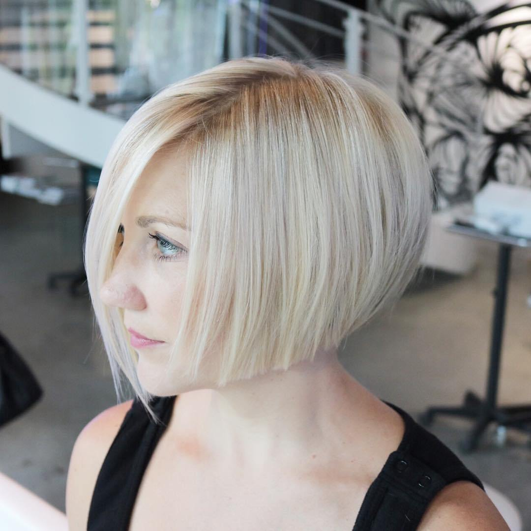 Edgy Inverted Bob Short Hairstyle