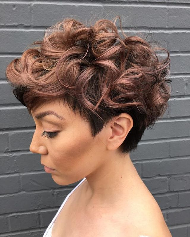 Dip Dye Tapered Short Hairstyle