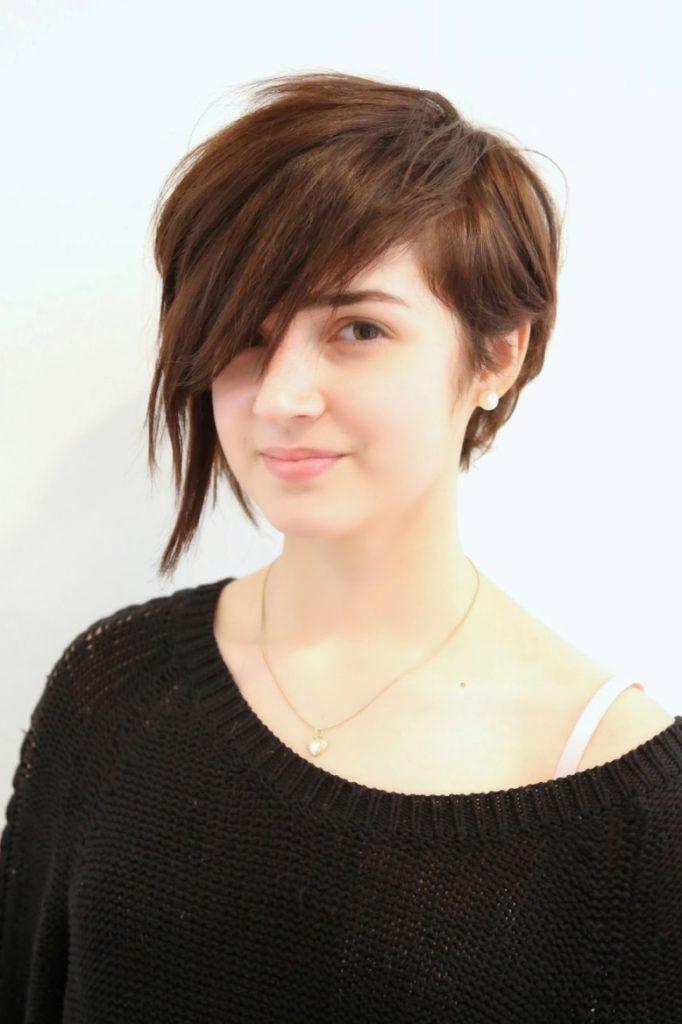 Layered Asymmetrical Short Hairstyle
