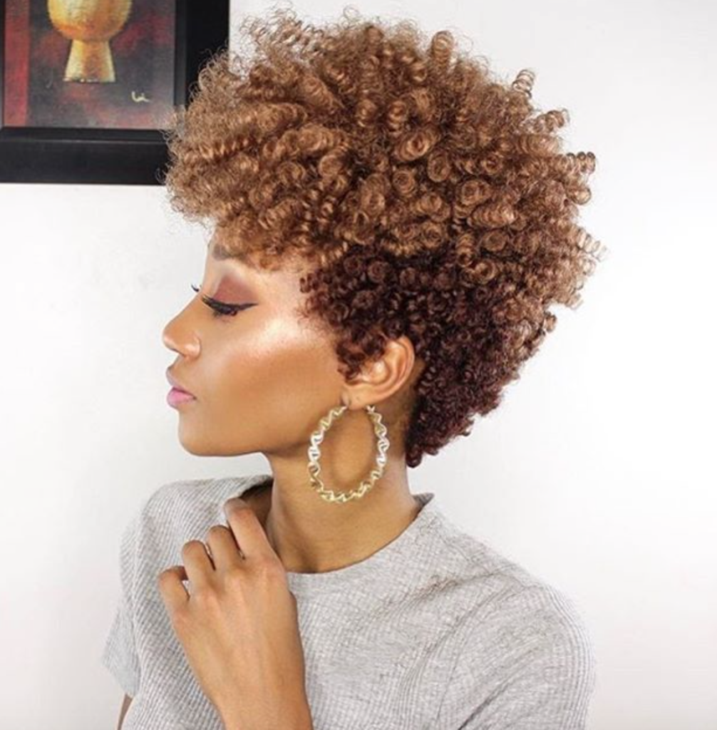 Curly Tapered Short Hairstyle