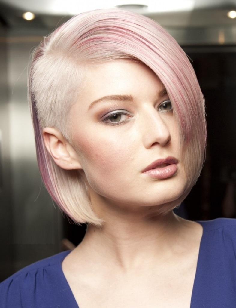 Undercut Inverted Bob Short Hairstyle