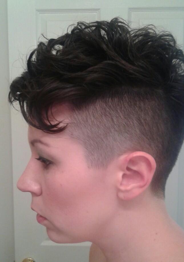 Edgy Mohawk Short Hairstyle