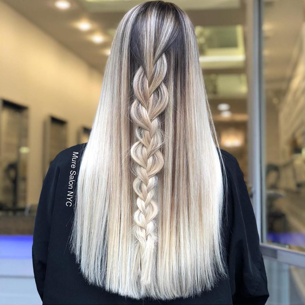 Balayage Hair with Fishtail