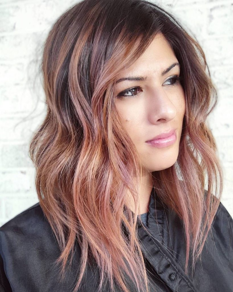 20 Trendy Rose Gold Hair Color And Highlight Ideas Hairdo Hairstyle