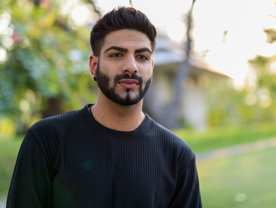 Indian guy with thick hairstyle