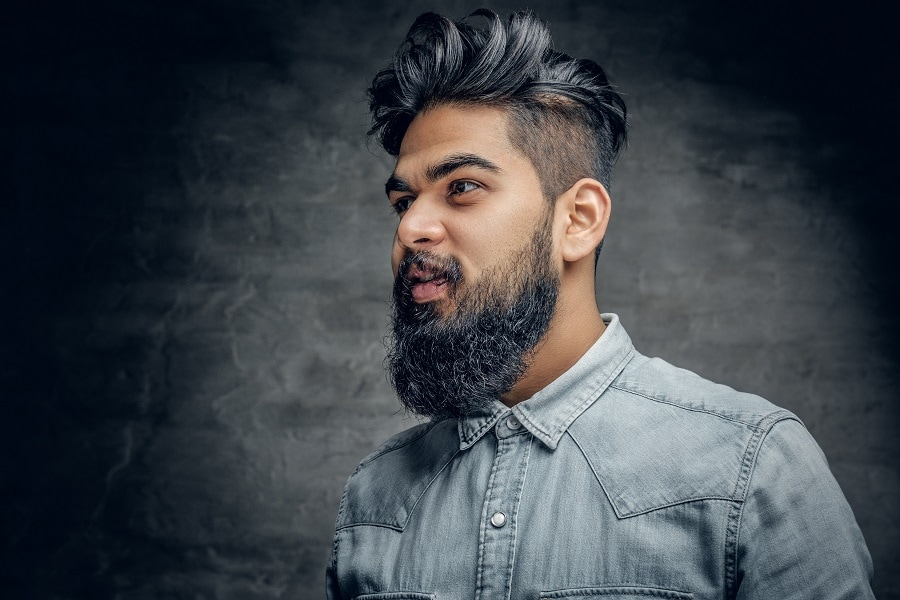 long quiff hairstyle for Indian men