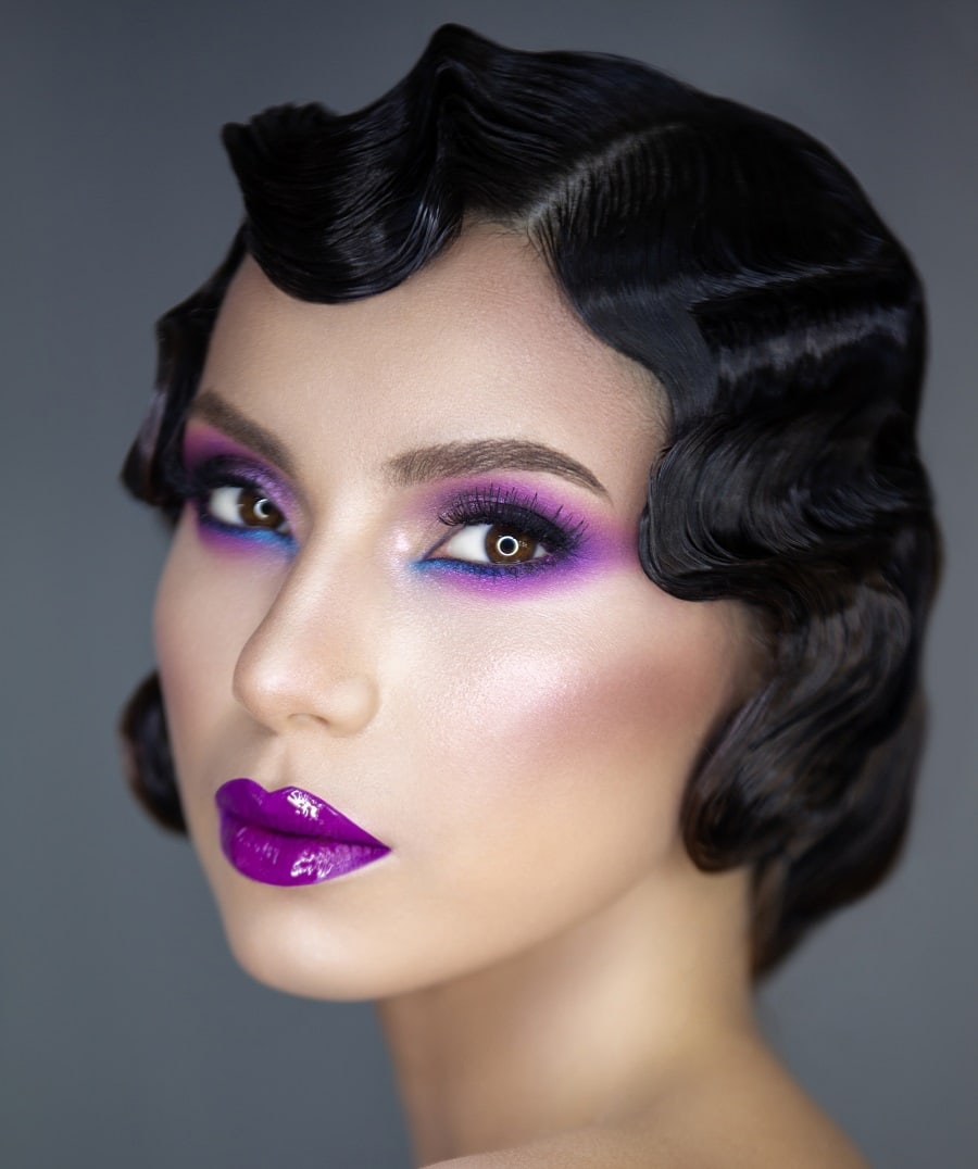 finger wave short hairstyle