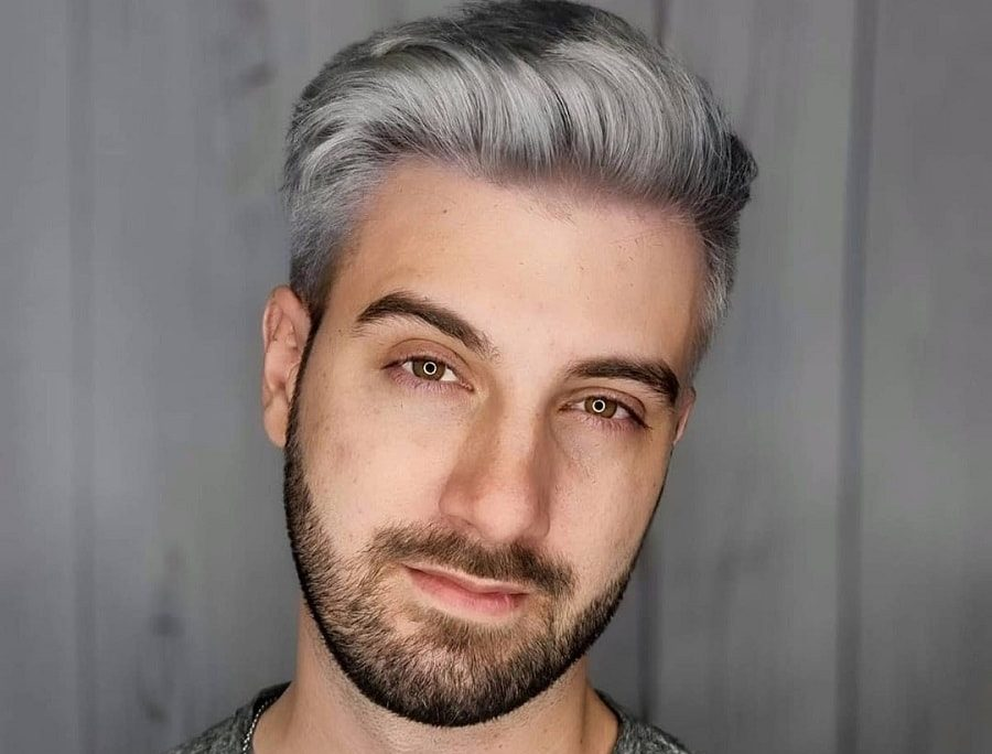 grey hairstyle for short thick hair