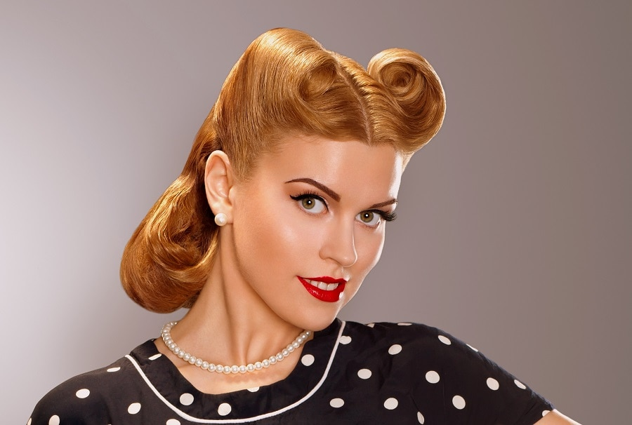 vintage hairstyle for short hair